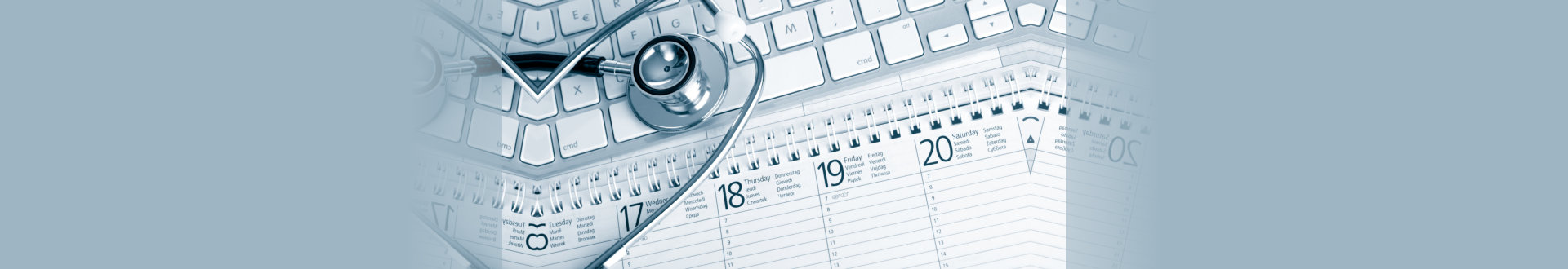 stethoscope and calendar