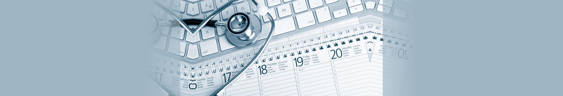 stethoscope and calendar